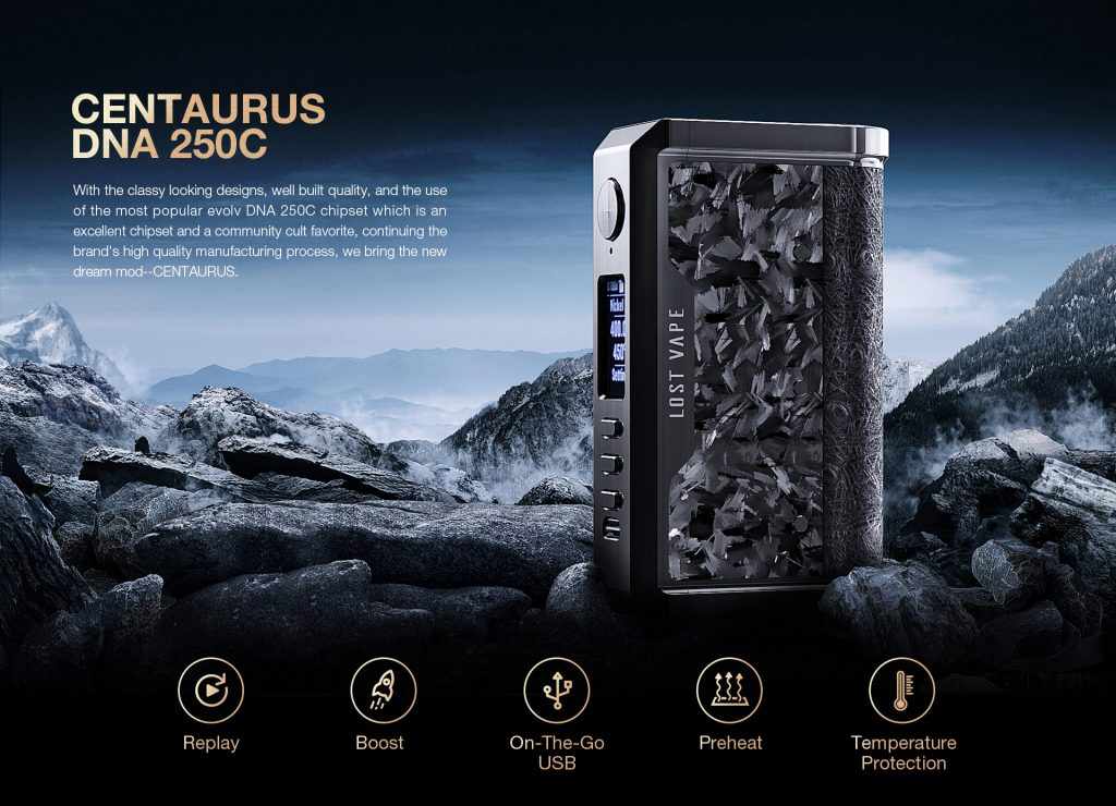 Lost Vape Centaurus DNA 250C box mod