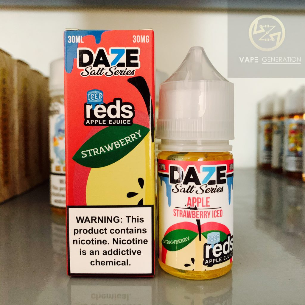 Juice usa salt nic 7daze reds apple vị dâu tây strawberry