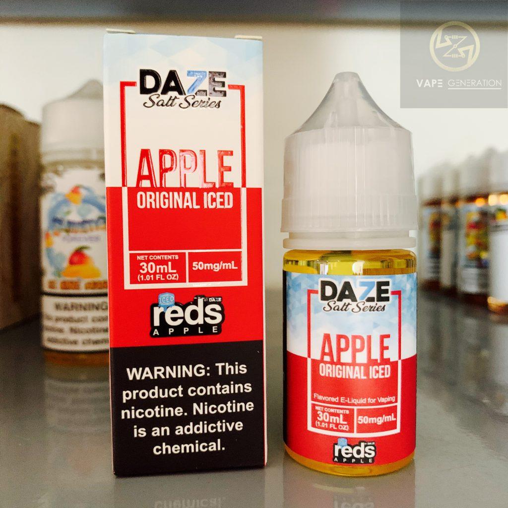 Tinh dầu usa mỹ daze salt series apple original iced táo lạnh