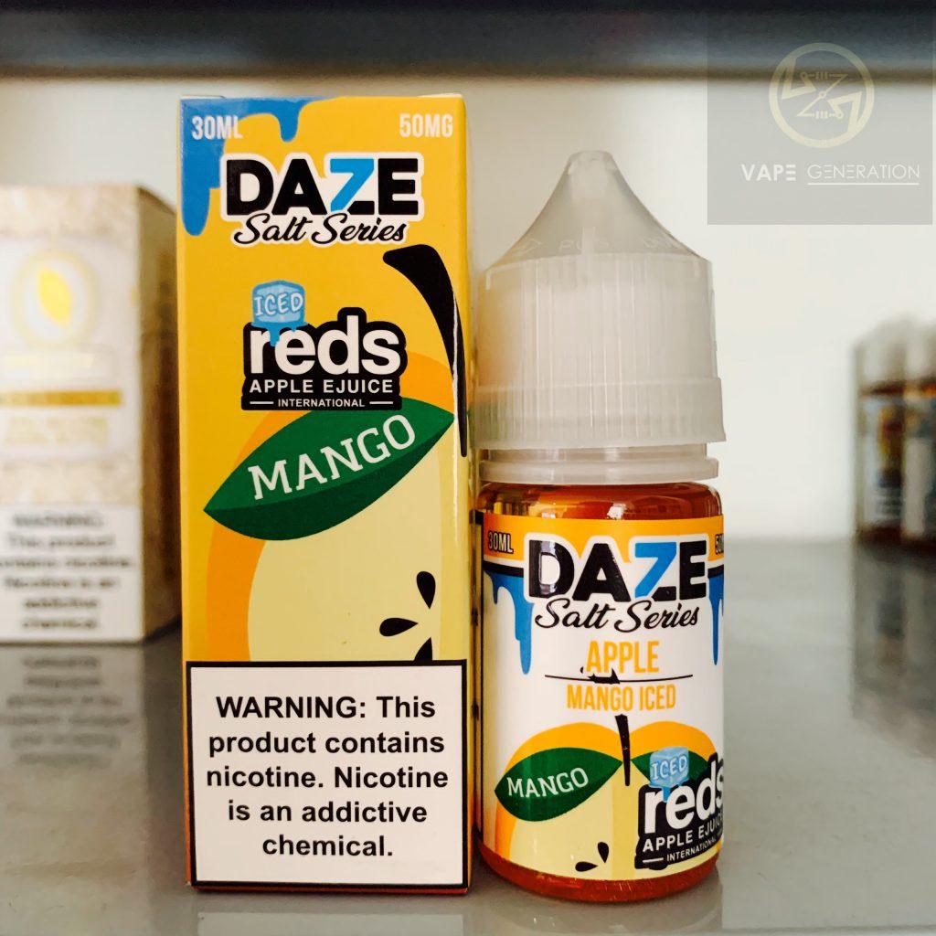 Tinh dầu mỹ salt nic 7daze red apple vị xài lạnh mango