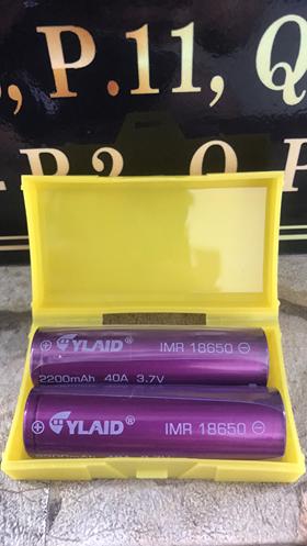 Linh kiện vape pin cylaid 18650 tím chính hãng