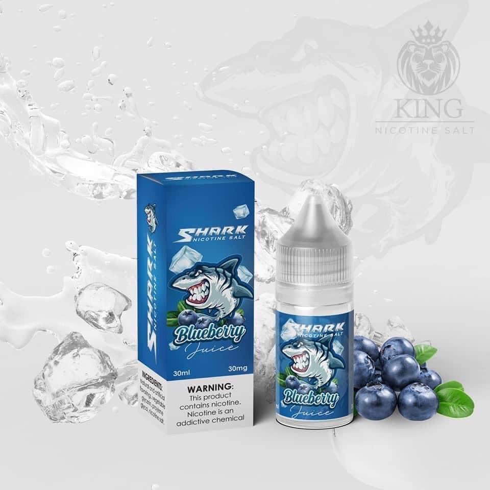 Saltnic Shark Việt Quất Lạnh ( Blueberry) 30mg/30ml