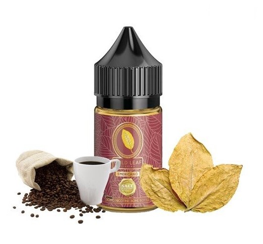 Gold Leaf Saltnic Emericano( xì gà cà phê) 30ni/30ml