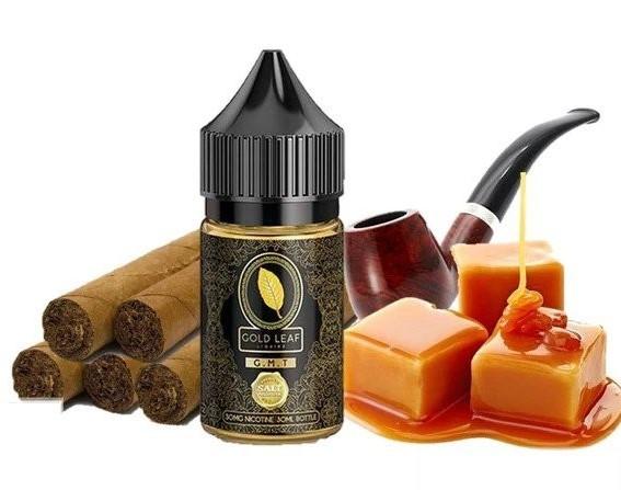 Gold Leaf Saltnic G.M.T( Xì Gà Caramel)30ni/30ml