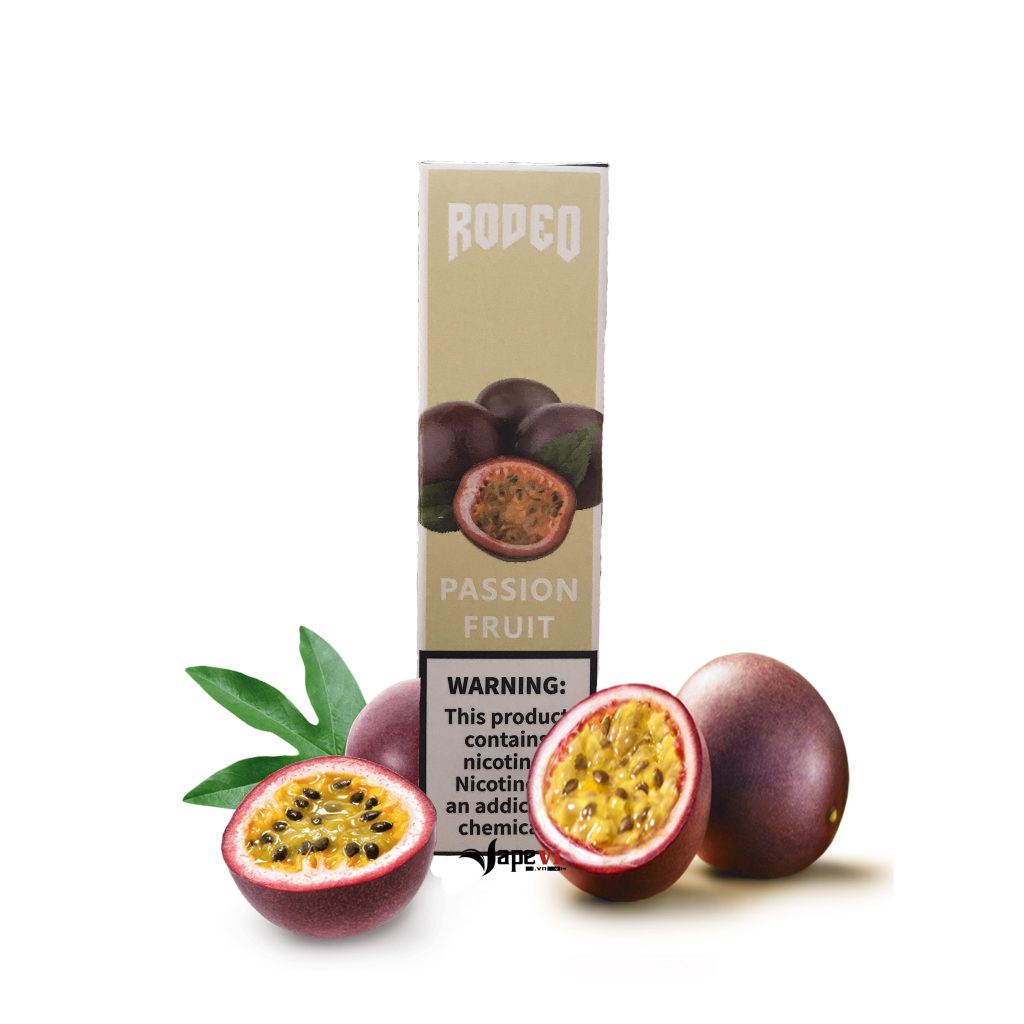 Rodeo Disposable 1600 Puff Passion Fruit – Pod 1 lần 1600 hơi vị Chanh Dây