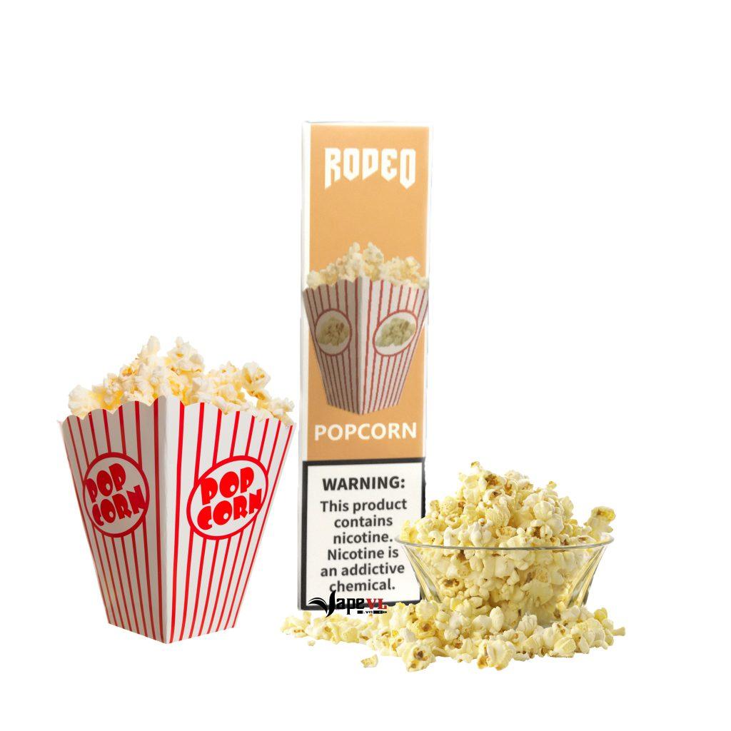 Rodeo Disposable 1600 Puff Popcorn – Pod 1 lần 1600 hơi vị Bắp Rang Bơ